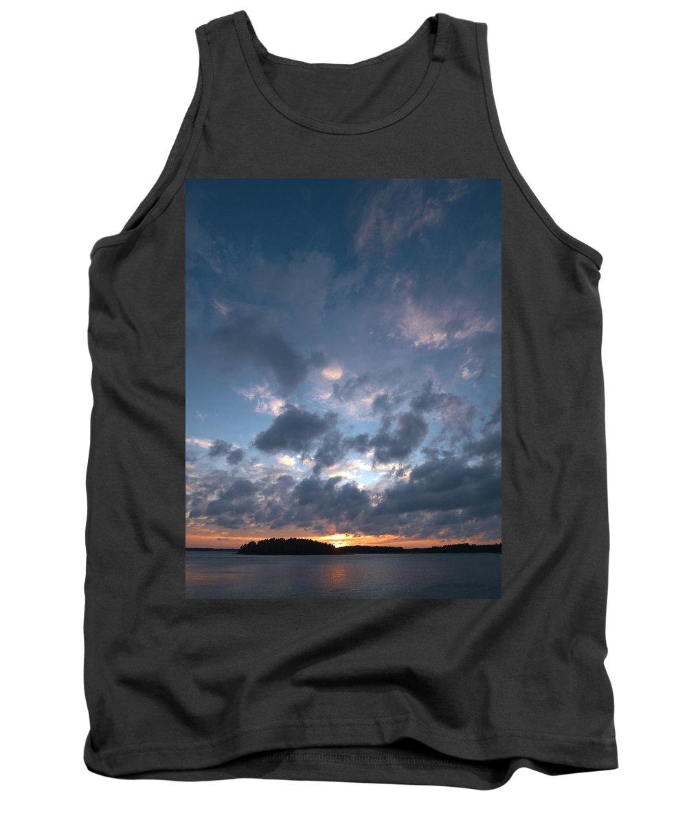 Lehtokukka Tank Top featuring the photograph Variations Of Sunsets At Gulf Of Bothnia 5 by Jouko Lehto