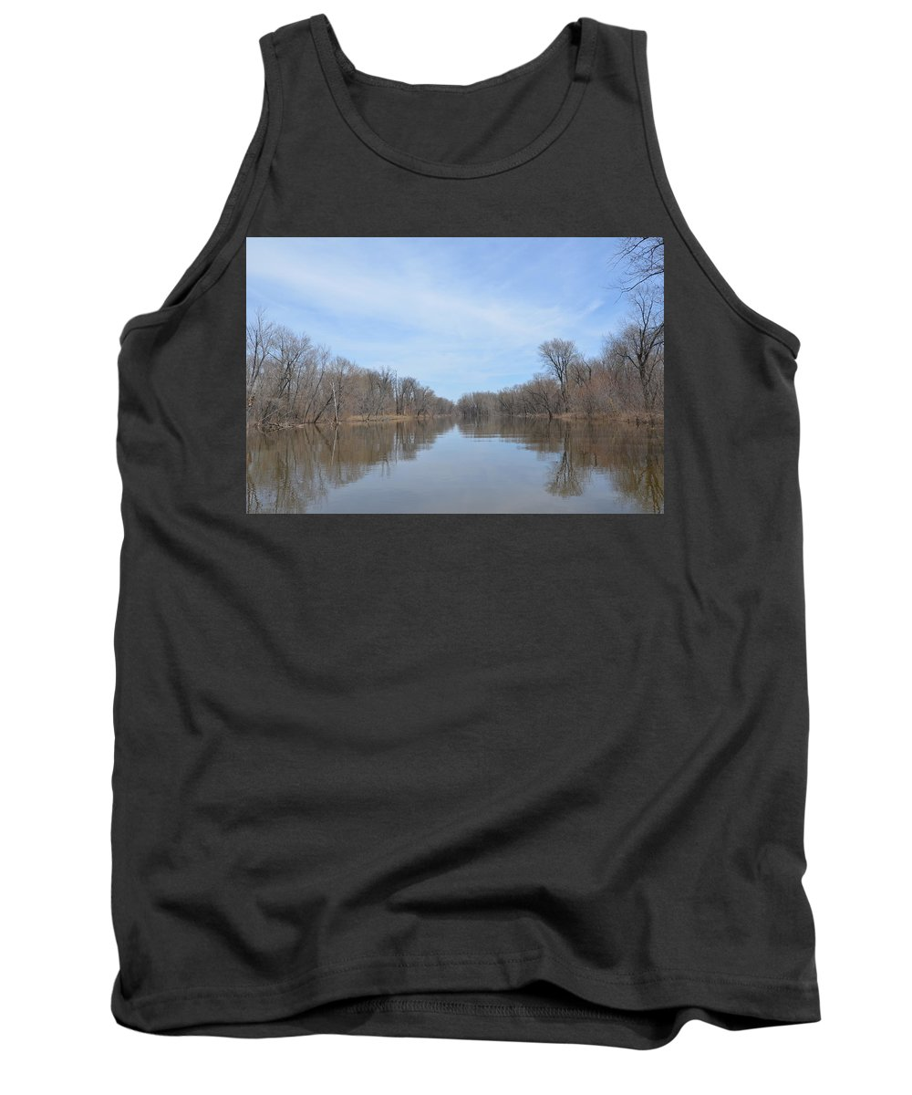 Mississippi River Tank Top featuring the photograph Velie Slough by Tammy Mutka