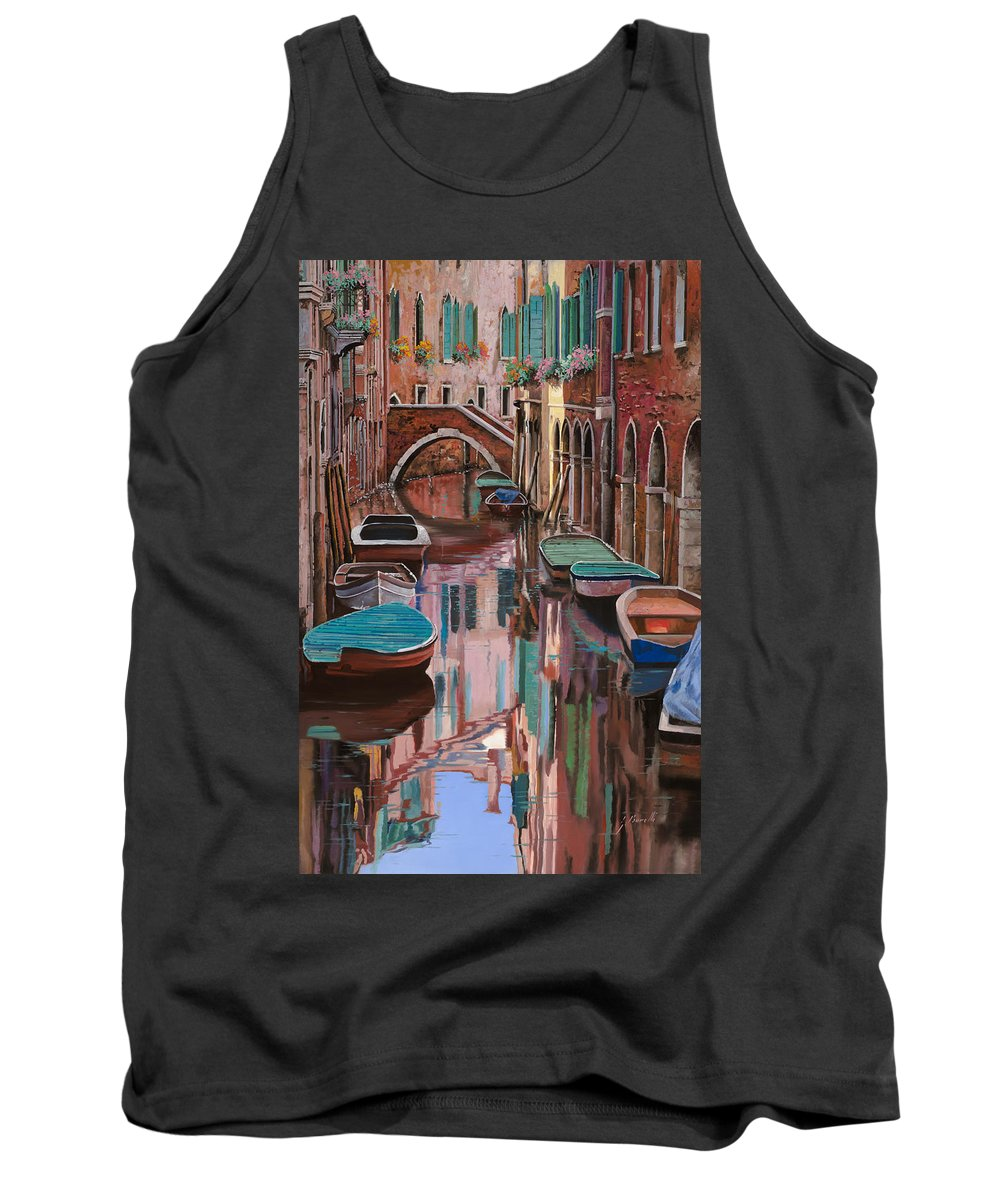 Venice Tank Top featuring the painting Venezia A Colori by Guido Borelli