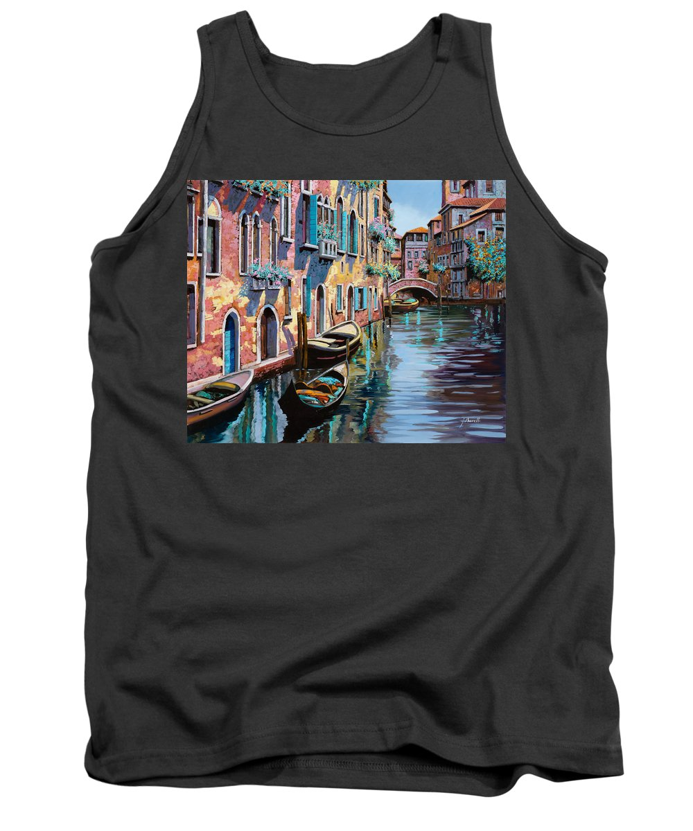 Venice Tank Top featuring the painting Venezia In Rosa by Guido Borelli