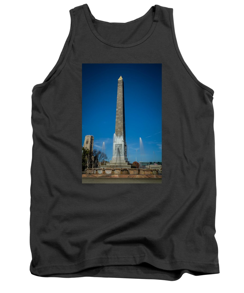 Indiana Tank Top featuring the photograph Veteran's Memorial Plaza by Ron Pate