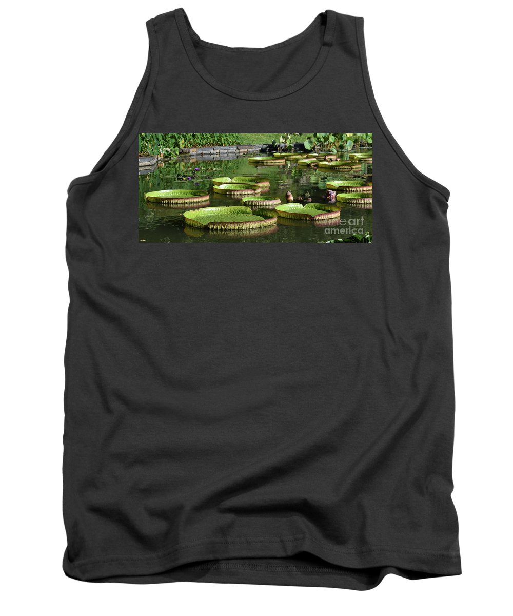 Beautiful Tank Top featuring the photograph Victoria Amazonica Giant Lily Pads by Brian M
