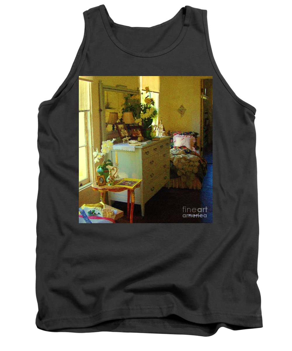 Bedroom Tank Top featuring the painting Victorian Sunshine by RC DeWinter