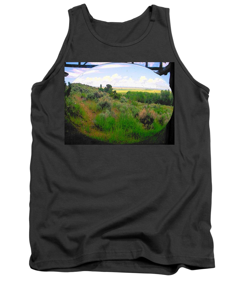 Landscape Tank Top featuring the photograph View From Cabin Window by Lenore Senior