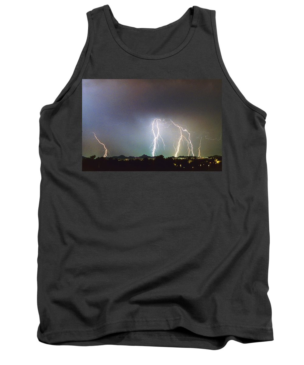 Arizona Tank Top featuring the photograph View From Oaxaca Restaurant Ll by James BO Insogna
