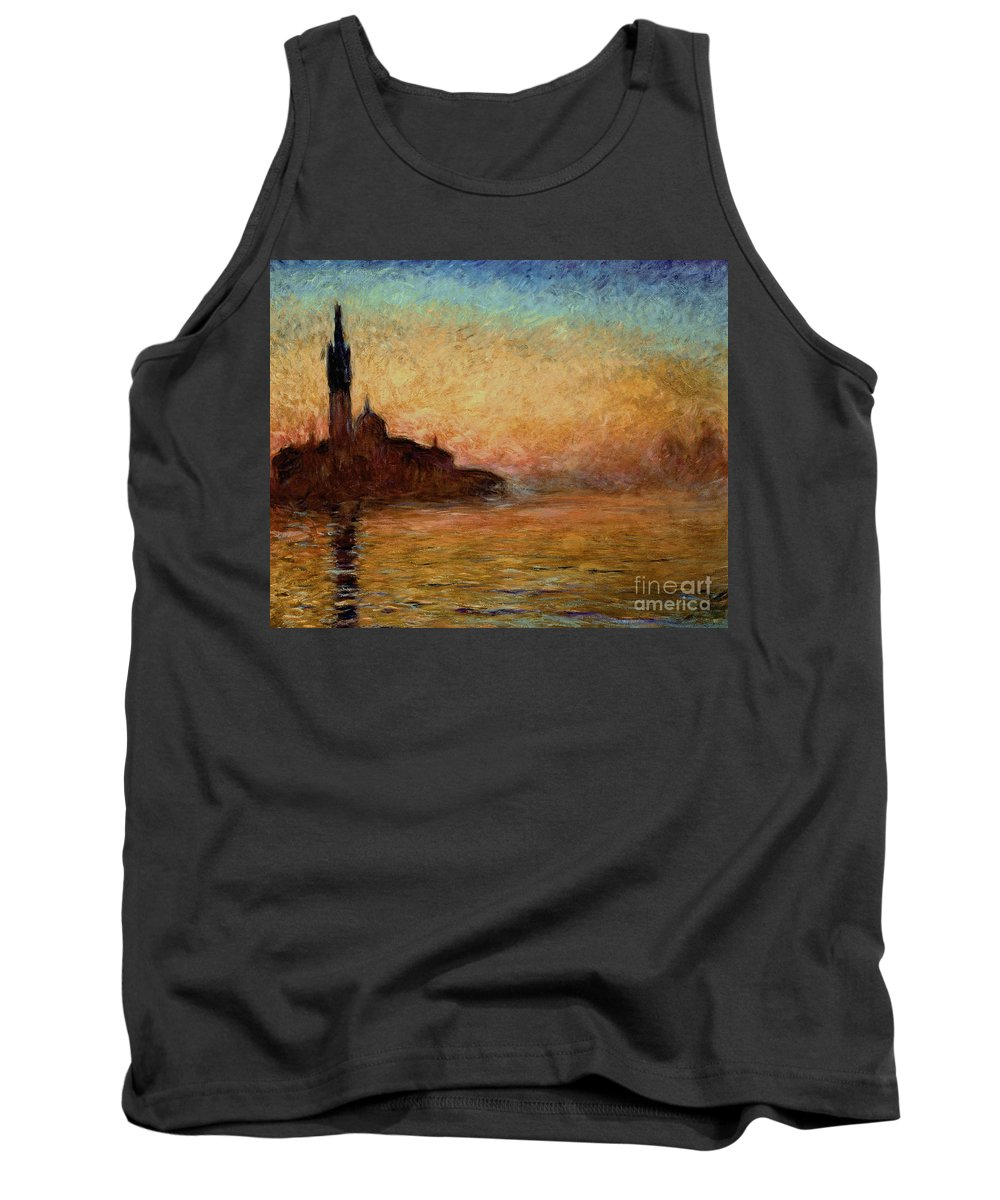 View Tank Top featuring the painting View Of San Giorgio Maggiore by Claude Monet