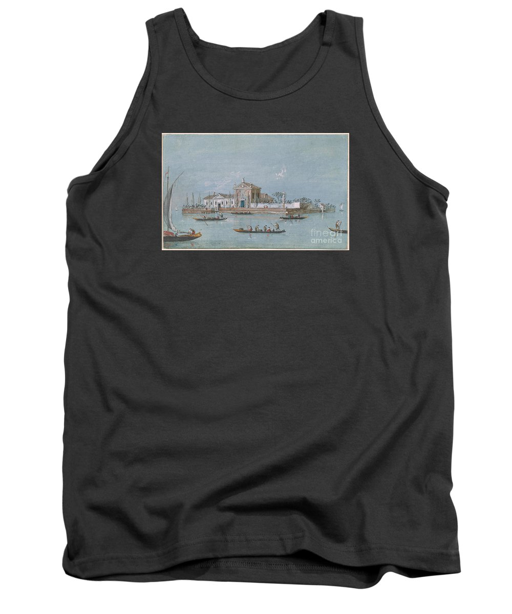 Giacomo Guardi 1764-1835 View Of The Island Of B.v. Del Rosario. Kingdom On Water Tank Top featuring the painting View Of The Island Of B.v. Del Rosario by MotionAge Designs