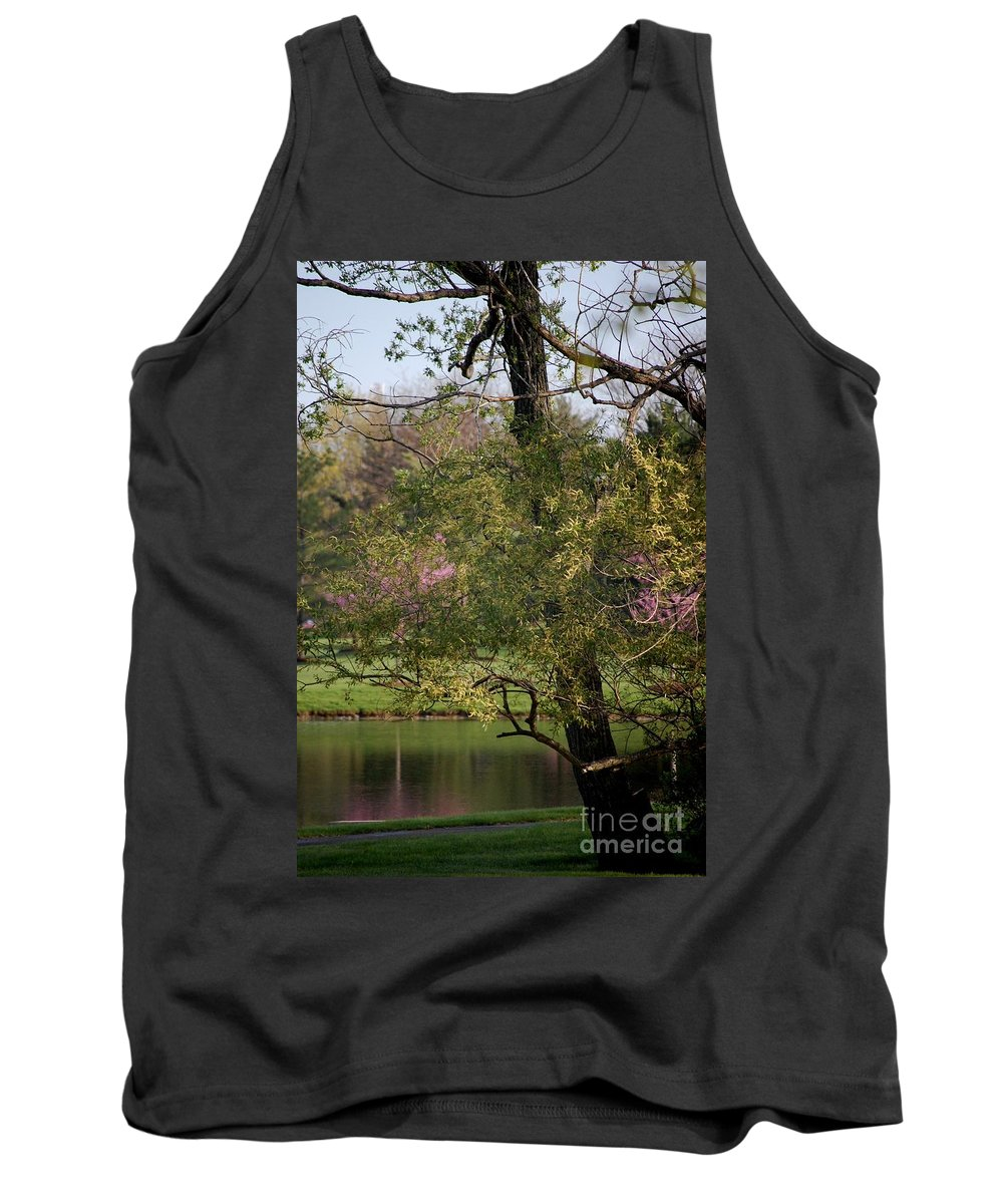 Landscape Tank Top featuring the photograph View Out My Office Window. by David Lane
