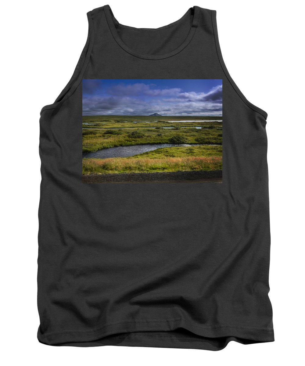 Myvatn Tank Top featuring the photograph View Towards Lake Myvatn Iceland by Elizabetha Fox
