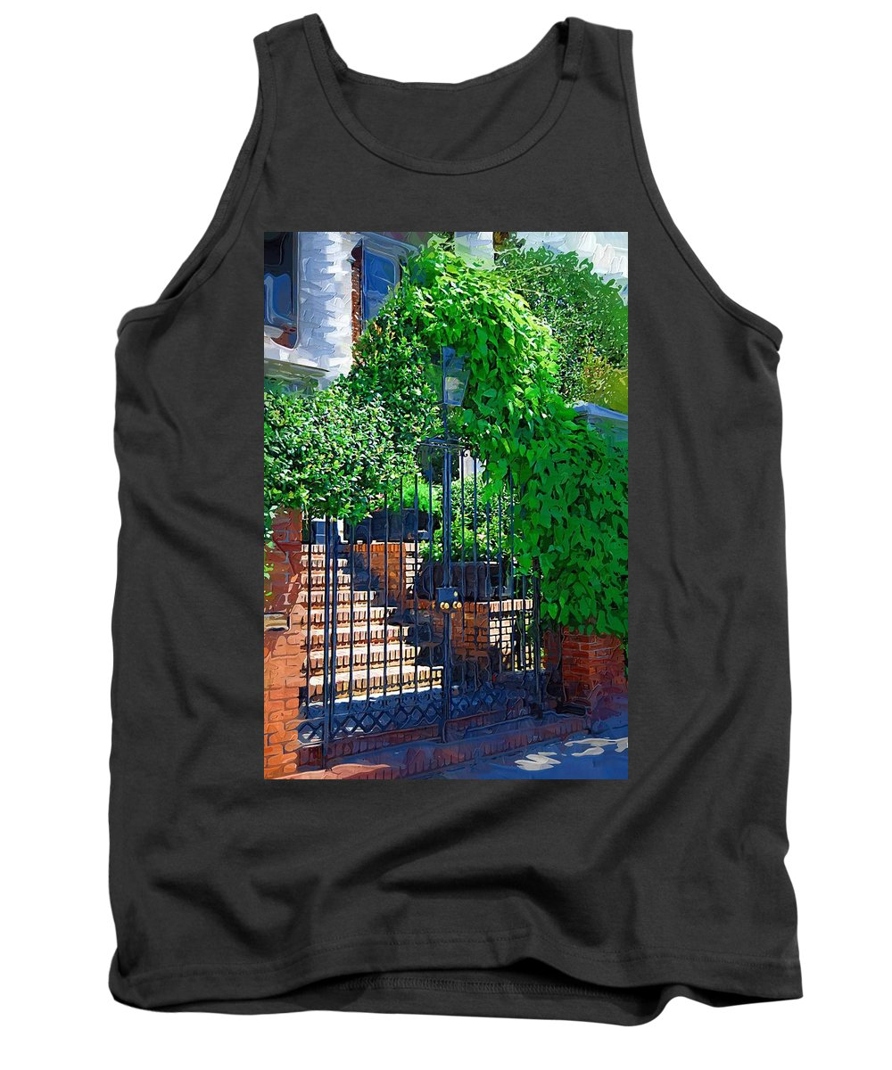 Vines Tank Top featuring the photograph Vines Over Gate by Donna Bentley