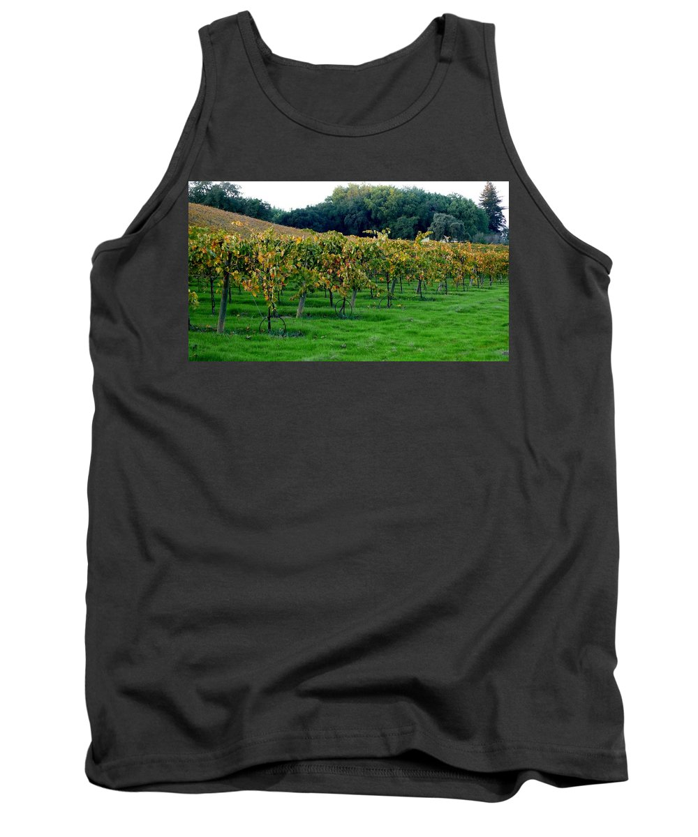 Vineyards Tank Top featuring the photograph Vineyards In California by Charlene Mitchell