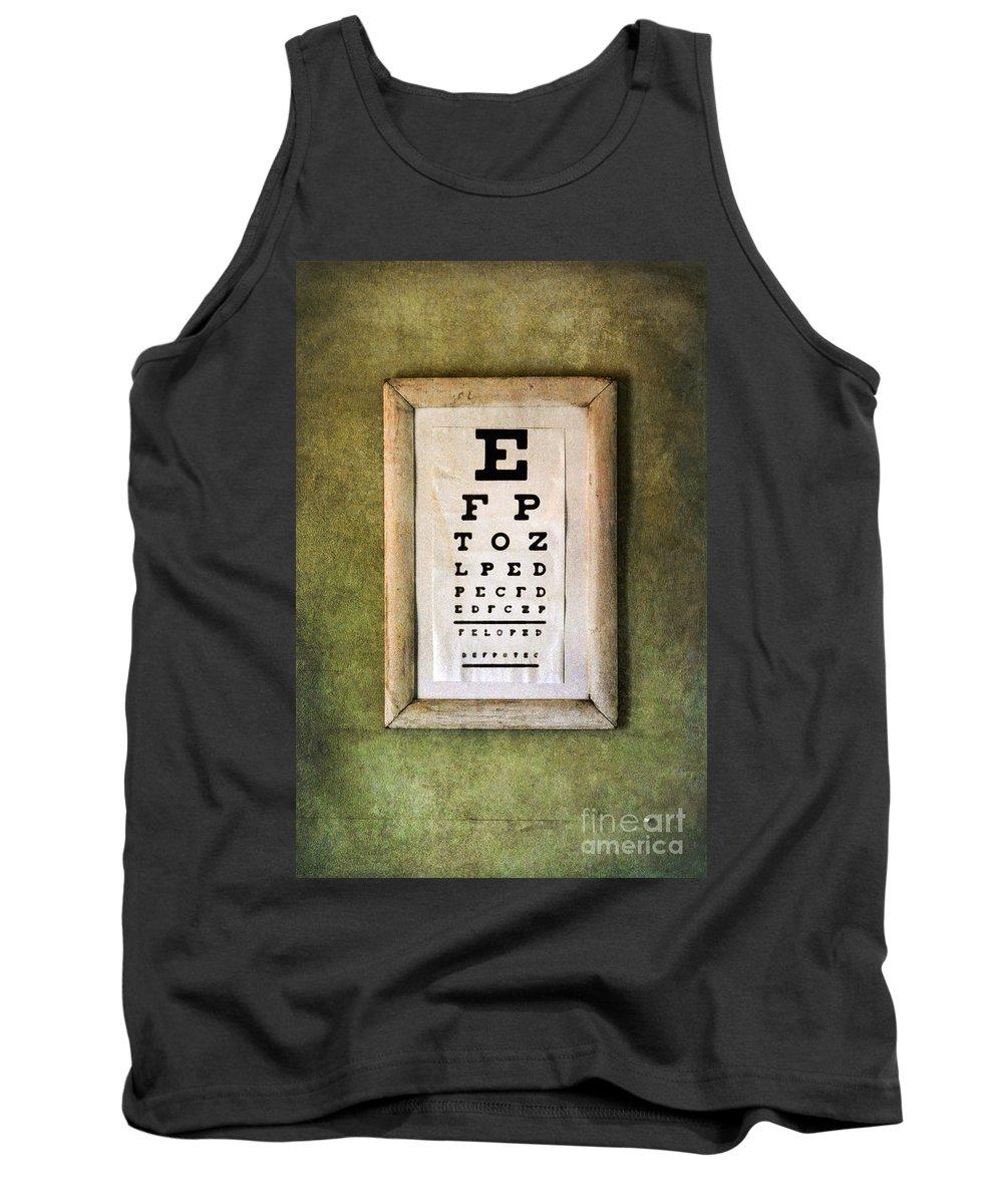 Eye Chart Tank Top featuring the photograph Vintage Eye Chart by Jill Battaglia