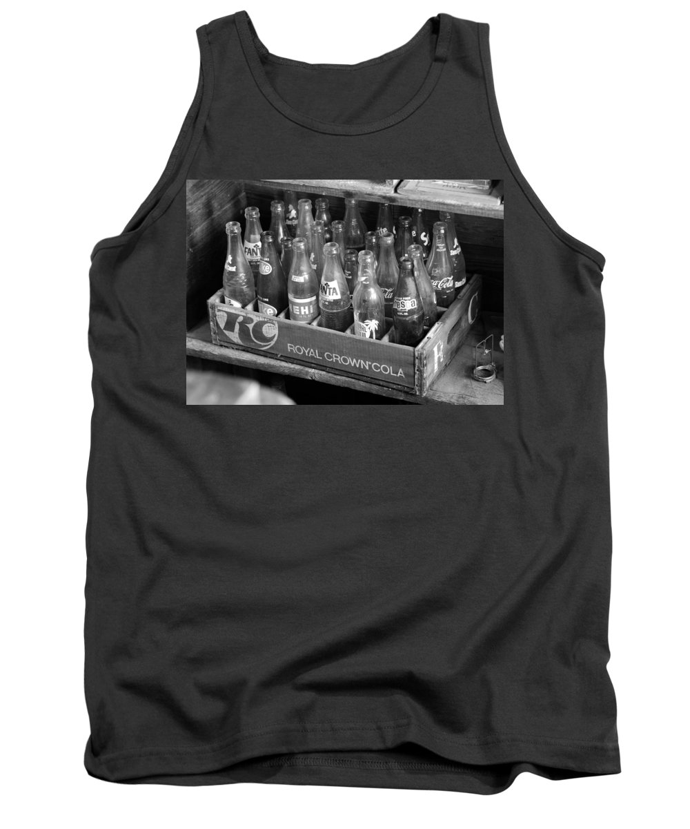 American Sodas Tank Top featuring the photograph Vintage Soda Case by David Lee Thompson