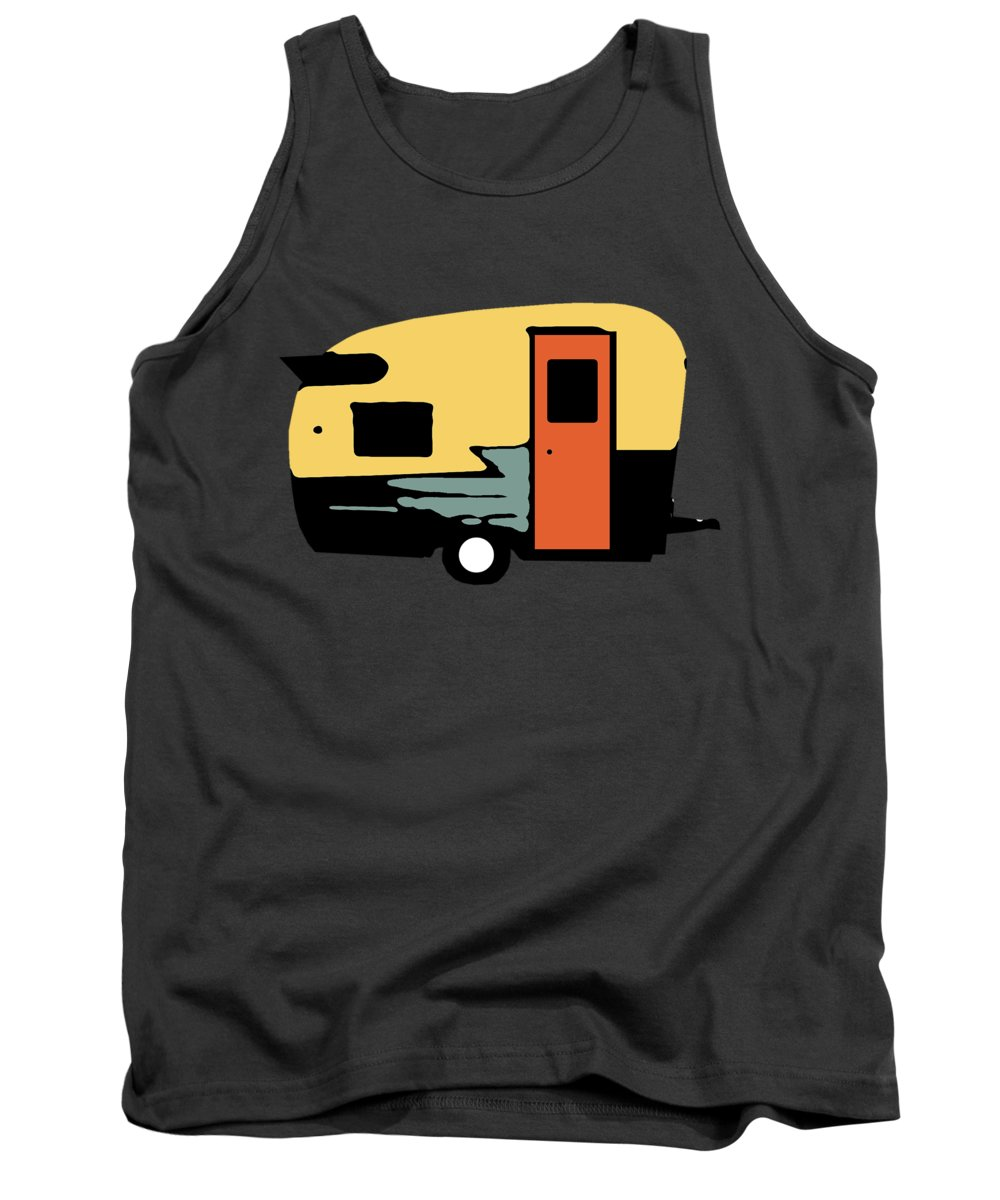Camper Tank Top featuring the photograph Vintage Travel Camper Transparent by Edward Fielding