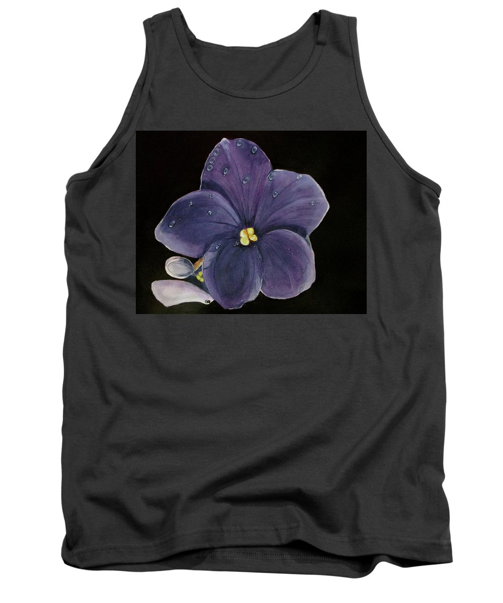Violet Painting Tank Top featuring the painting Violet by Carol Blackhurst
