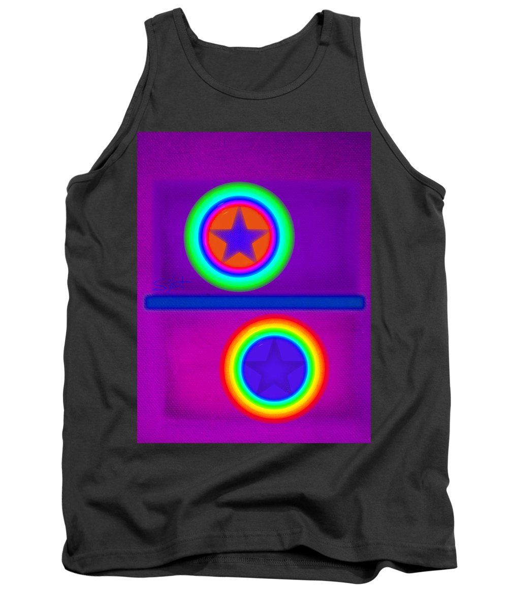 Balance Tank Top featuring the painting Violet Circus by Charles Stuart