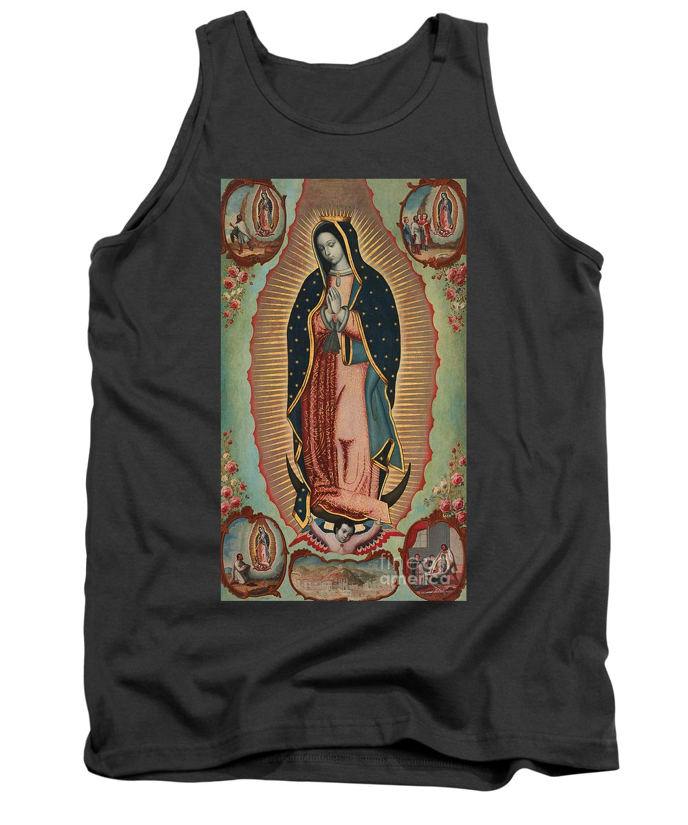 Virgin Of Guadalupe Tank Top featuring the painting Virgin Of Guadalupe by Nicolas Enriquez