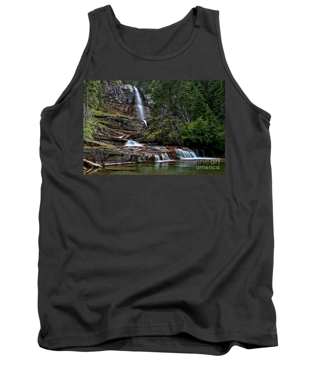 Virginia Falls Tank Top featuring the photograph Virginia Falls In The Pool by Adam Jewell