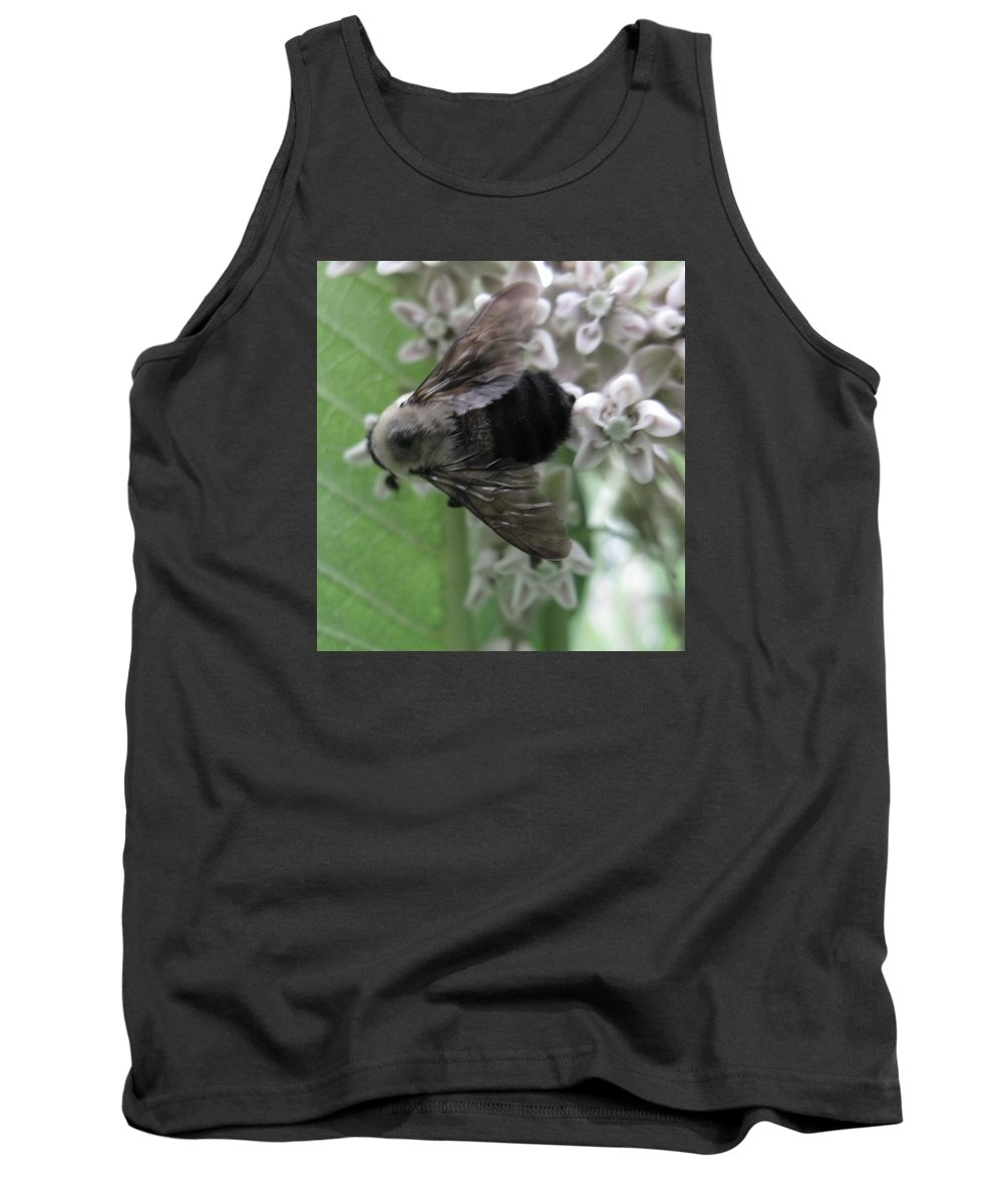 Hymenoptera Tank Top featuring the photograph Visiting Milkweed by Rachelle Hadlock