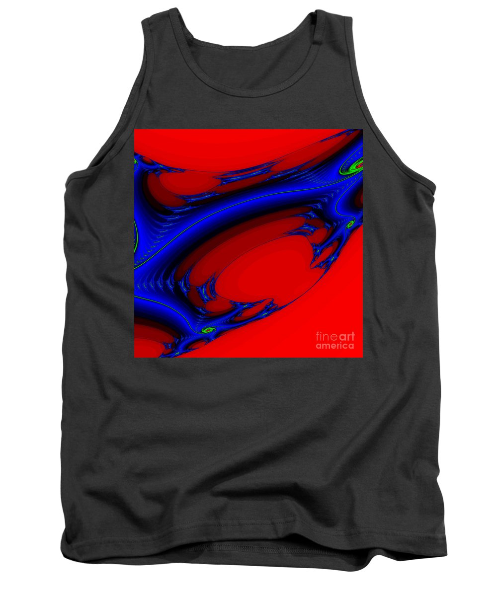 Clay Tank Top featuring the digital art Vortex Extreme Fractal by Clayton Bruster