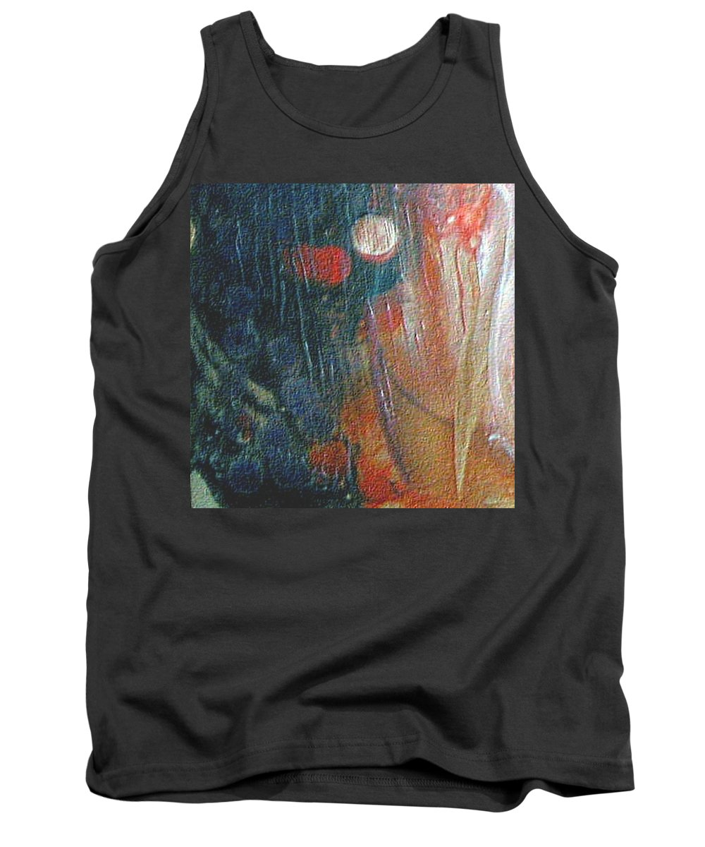 Double Moon Tank Top featuring the painting W 003 - Double Moon by Dragica Micki Fortuna