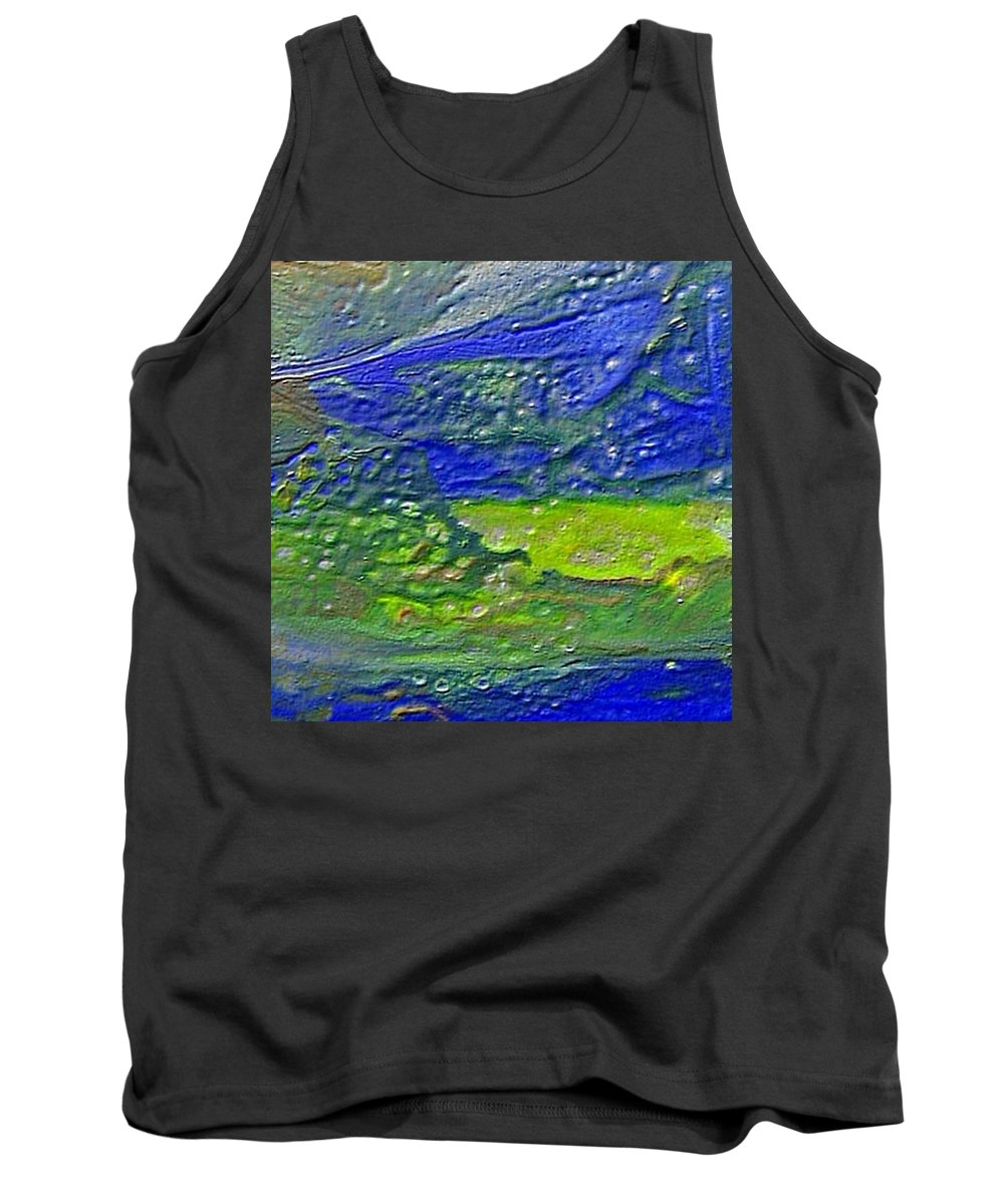 Encaustic Painting Tank Top featuring the painting W 029 by Dragica Micki Fortuna
