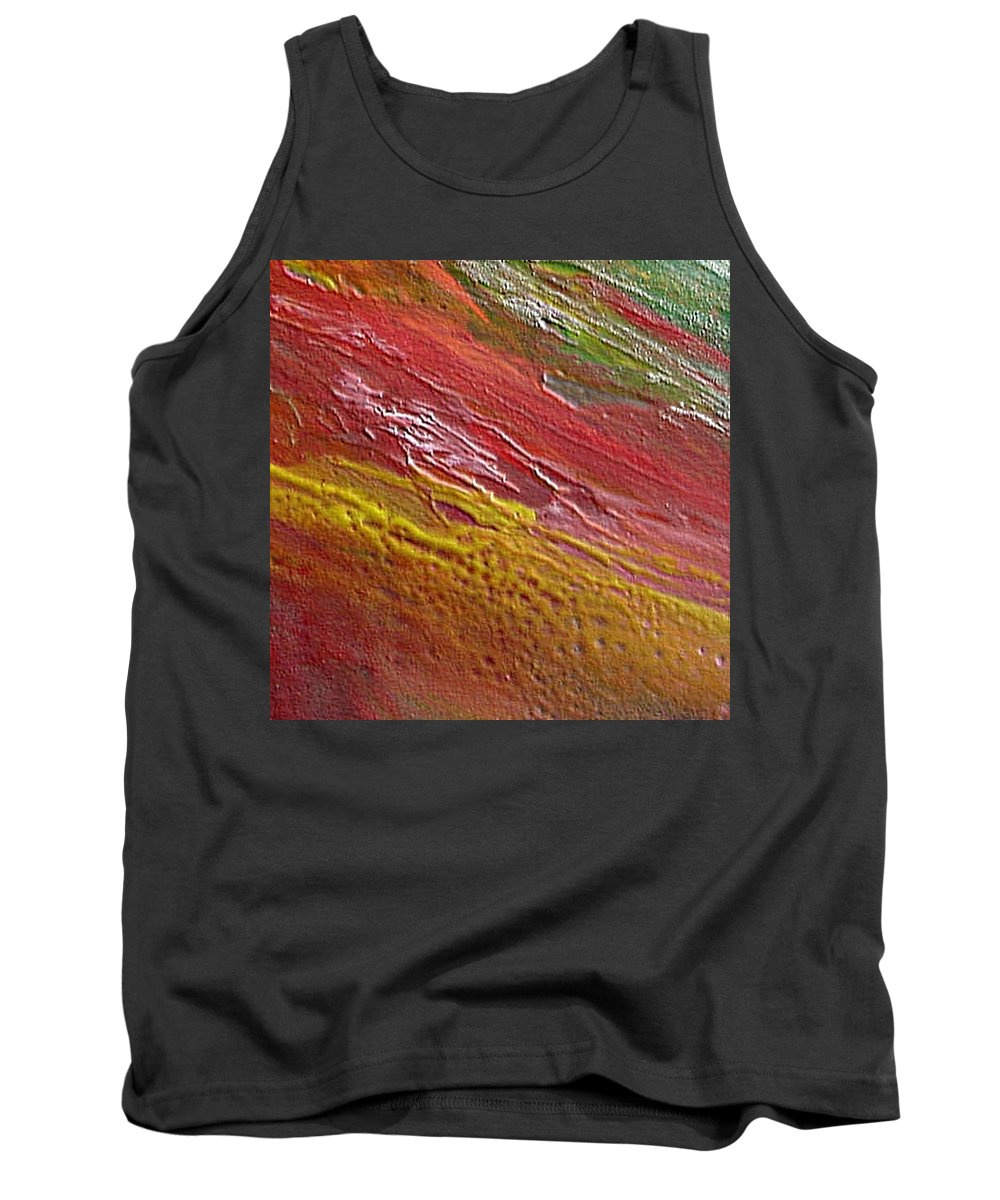 Encaustic Painting Tank Top featuring the painting W 036 by Dragica Micki Fortuna