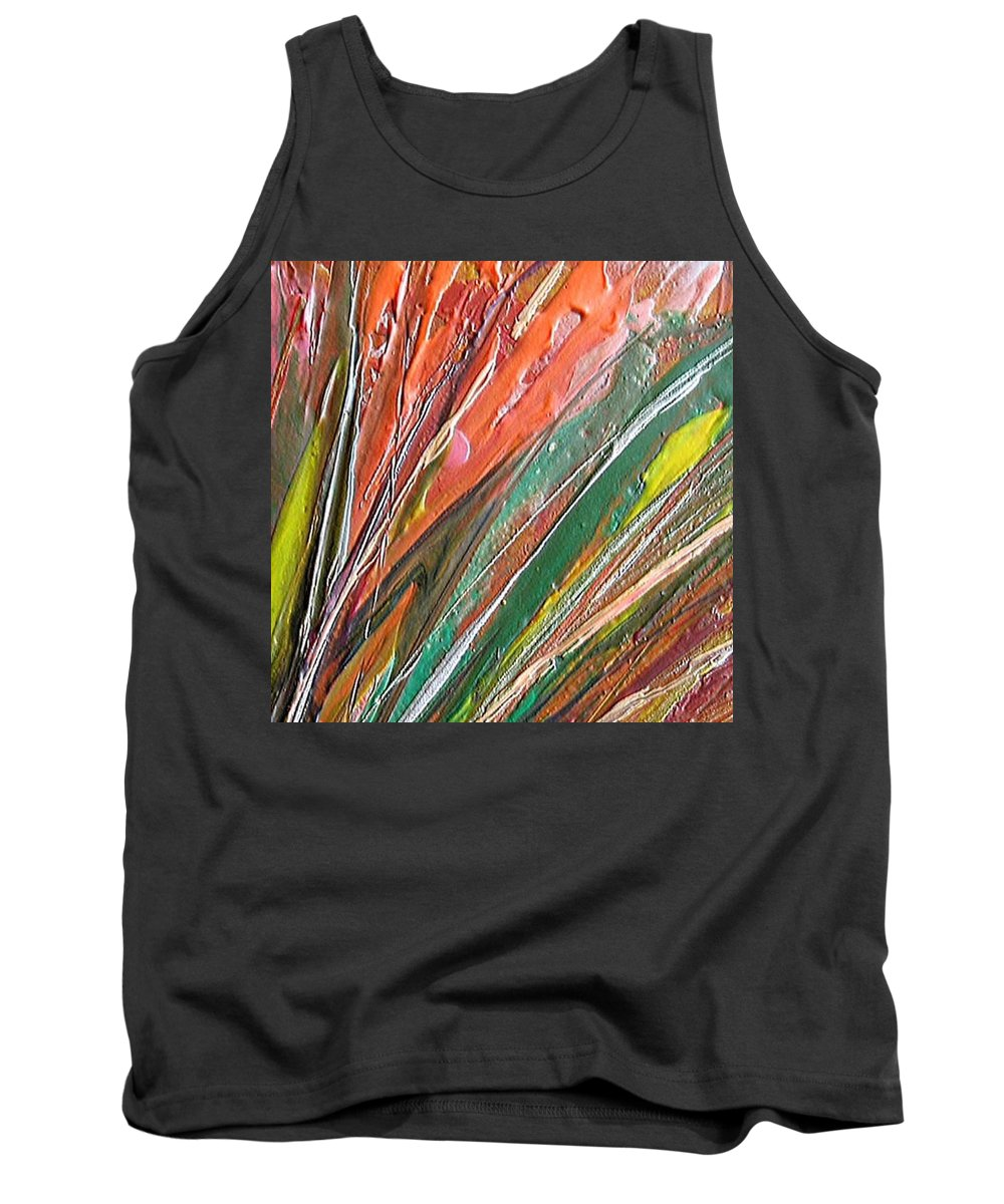 Abstract Tank Top featuring the painting W 043 by Dragica Micki Fortuna