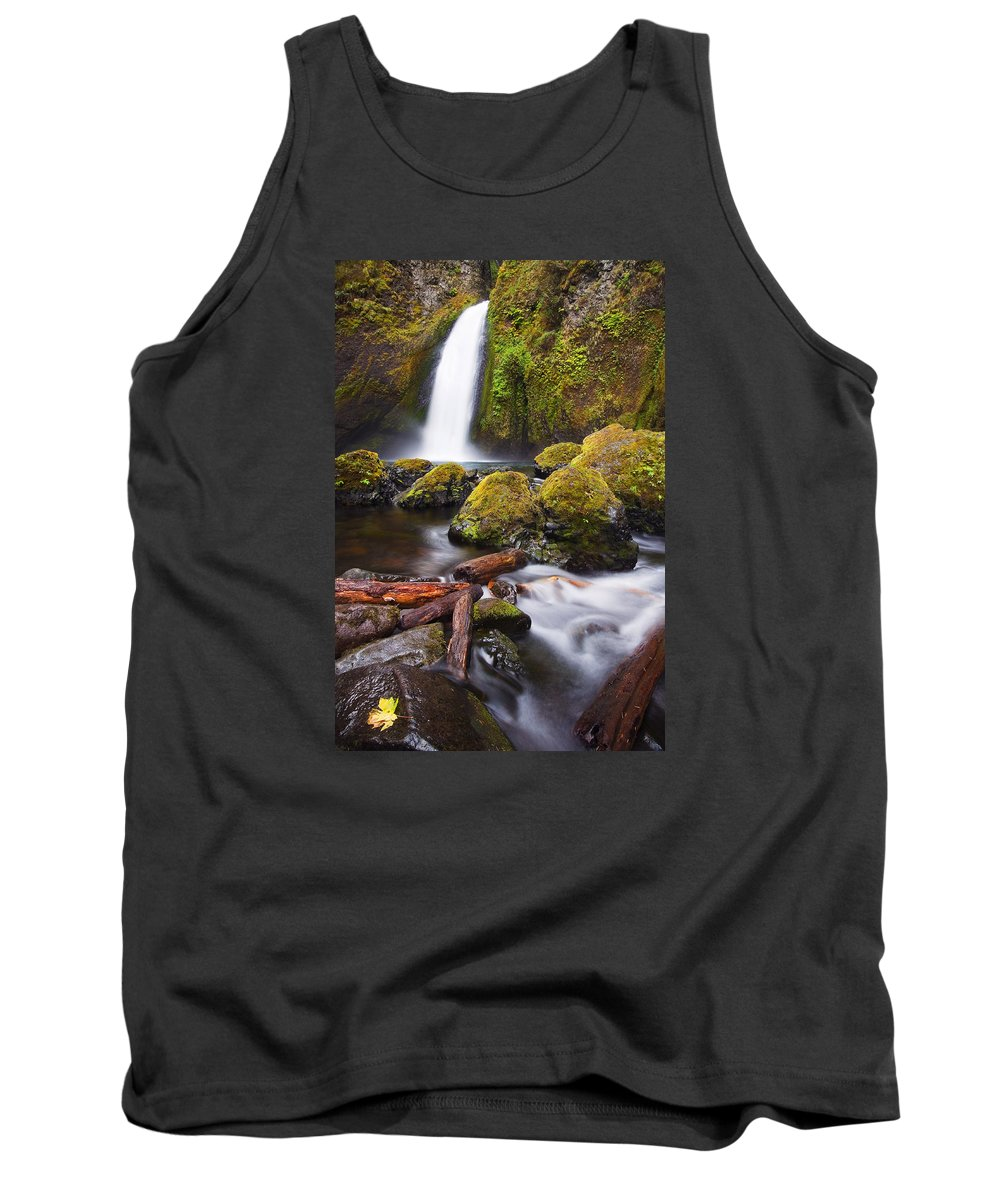 Waterfall Tank Top featuring the photograph Wahclella by Mike Dawson