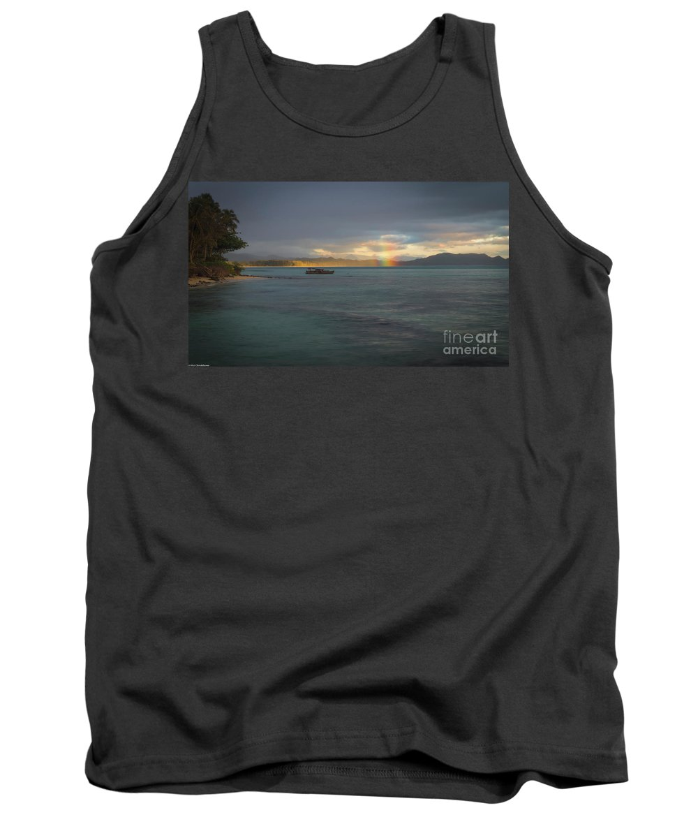 Waimanalo Rainbow Tank Top featuring the photograph Waimananlo Anuenue by Mitch Shindelbower