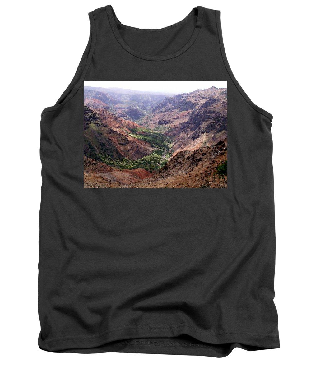 Waimea Tank Top featuring the photograph Waimea Canyon 1 by Amy Fose