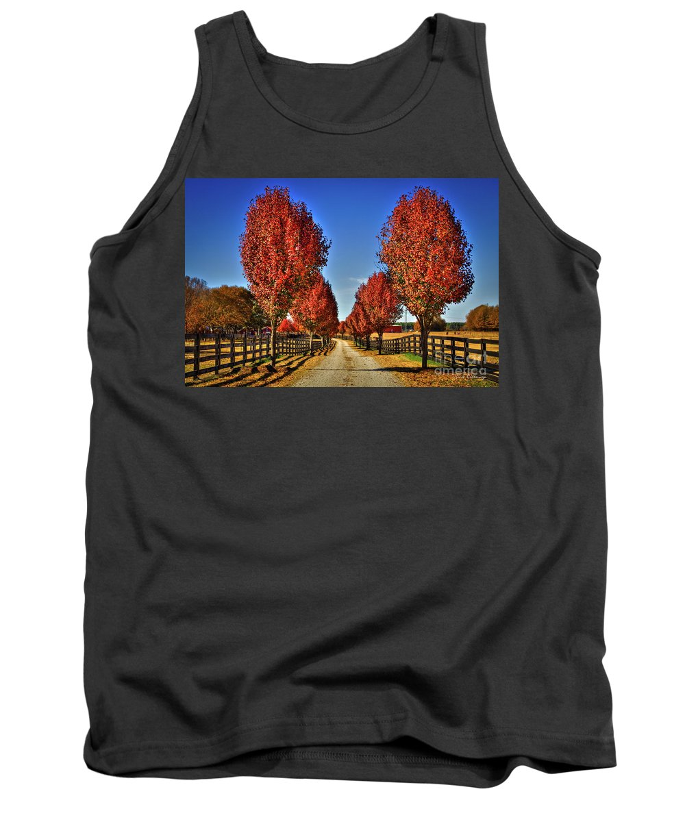 Reid Callaway Bradford Pear Trees. Pyres Calleryana Tank Top featuring the photograph Wait Until We Are Full Grown by Reid Callaway