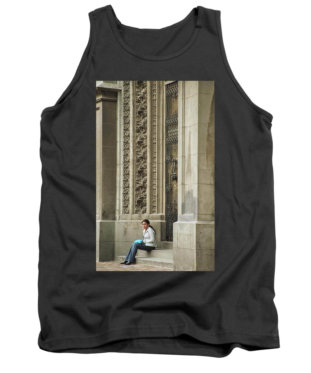 Church Tank Top featuring the photograph Waiting For God by Kathy McClure