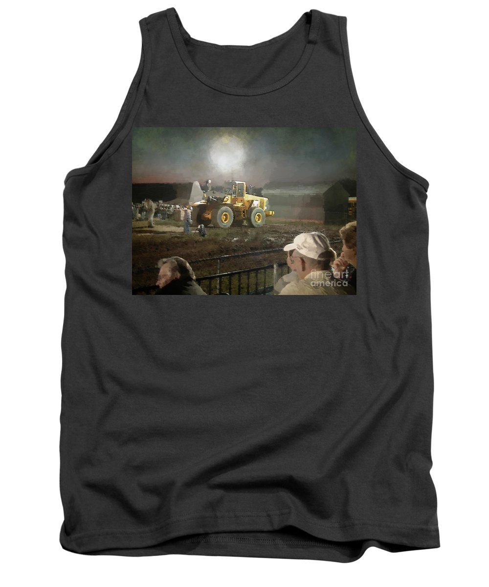 Americana Tank Top featuring the painting Waiting For The Pull by RC DeWinter