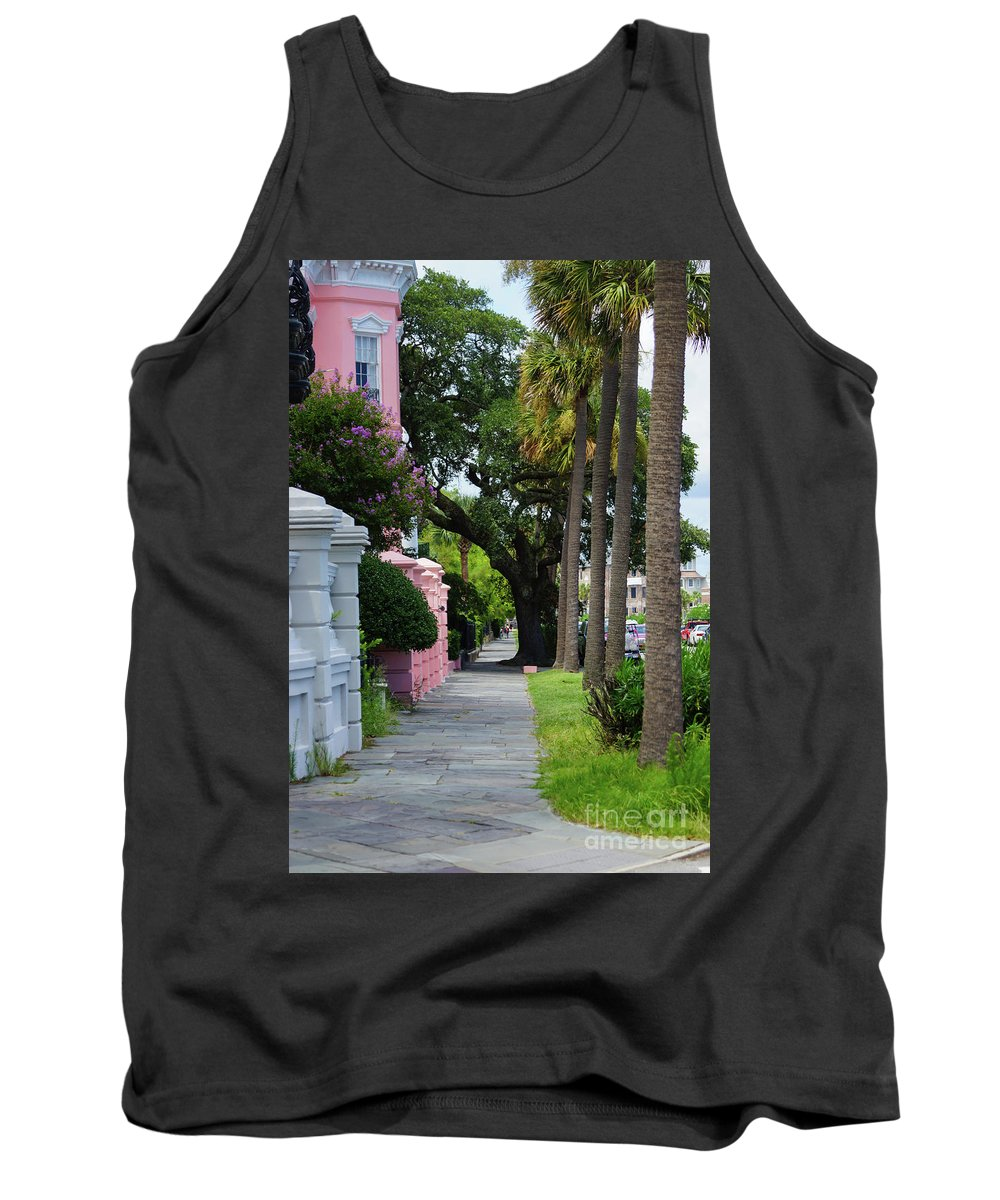 America Tank Top featuring the photograph Walk Along Rainbow Row by Jennifer White