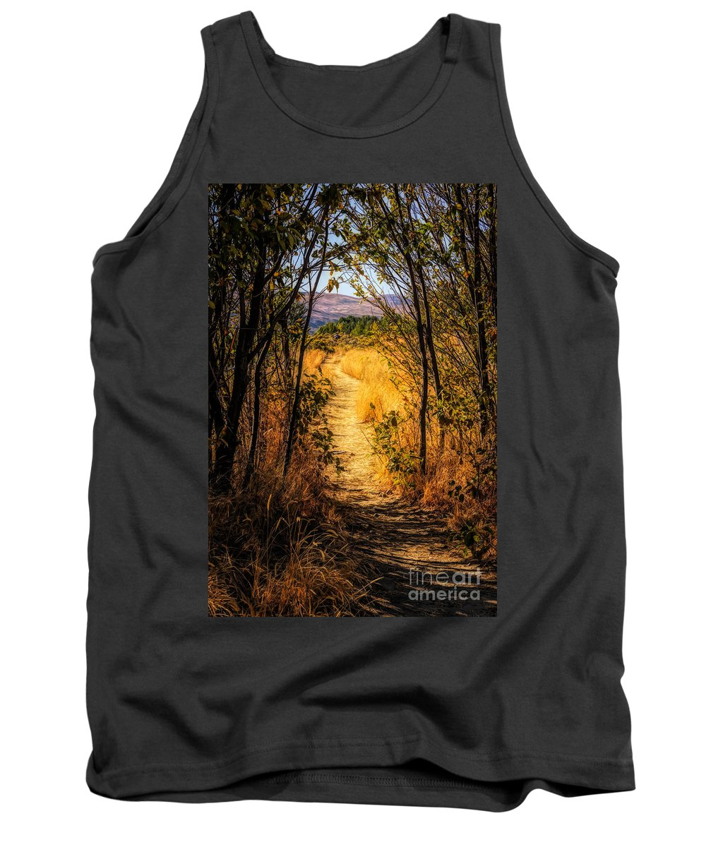 Fall Tank Top featuring the photograph Walk With Me by Wendy Elliott
