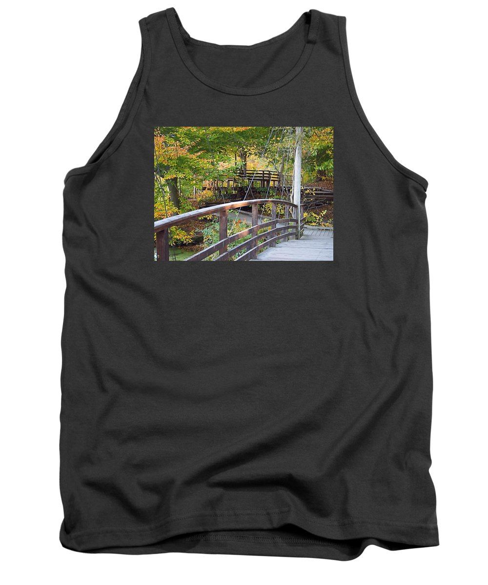 Fall Tank Top featuring the photograph Walking Bridge by Newwwman