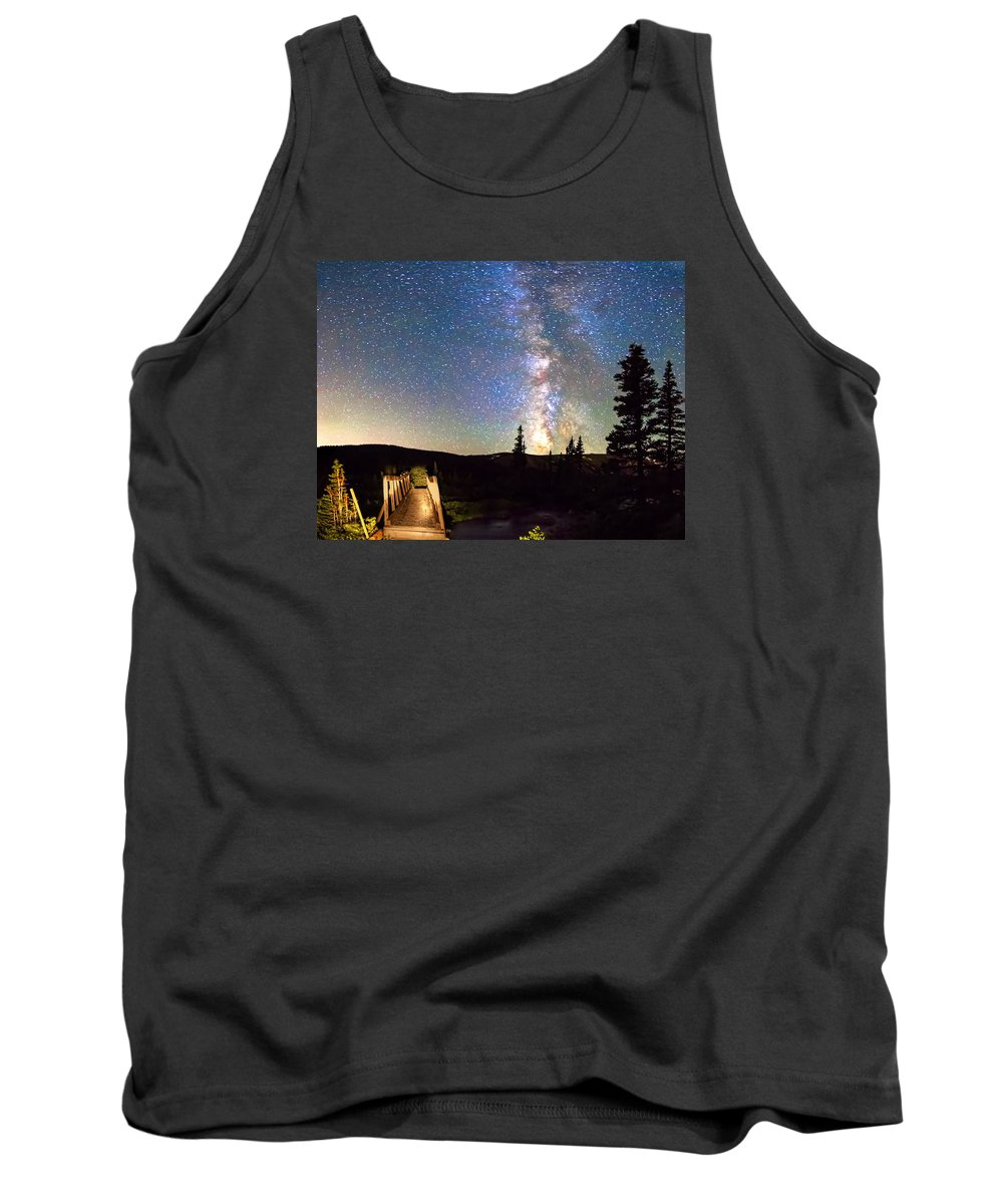 Bridge Tank Top featuring the photograph Walking Bridge To The Milky Way by James BO Insogna
