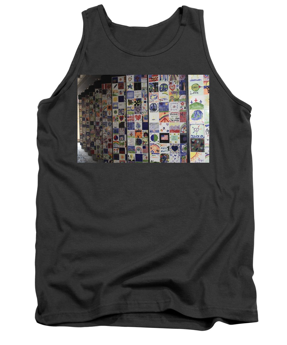 Wall Of Hope Tank Top featuring the photograph Wall Of Hope by Erin Rosenblum