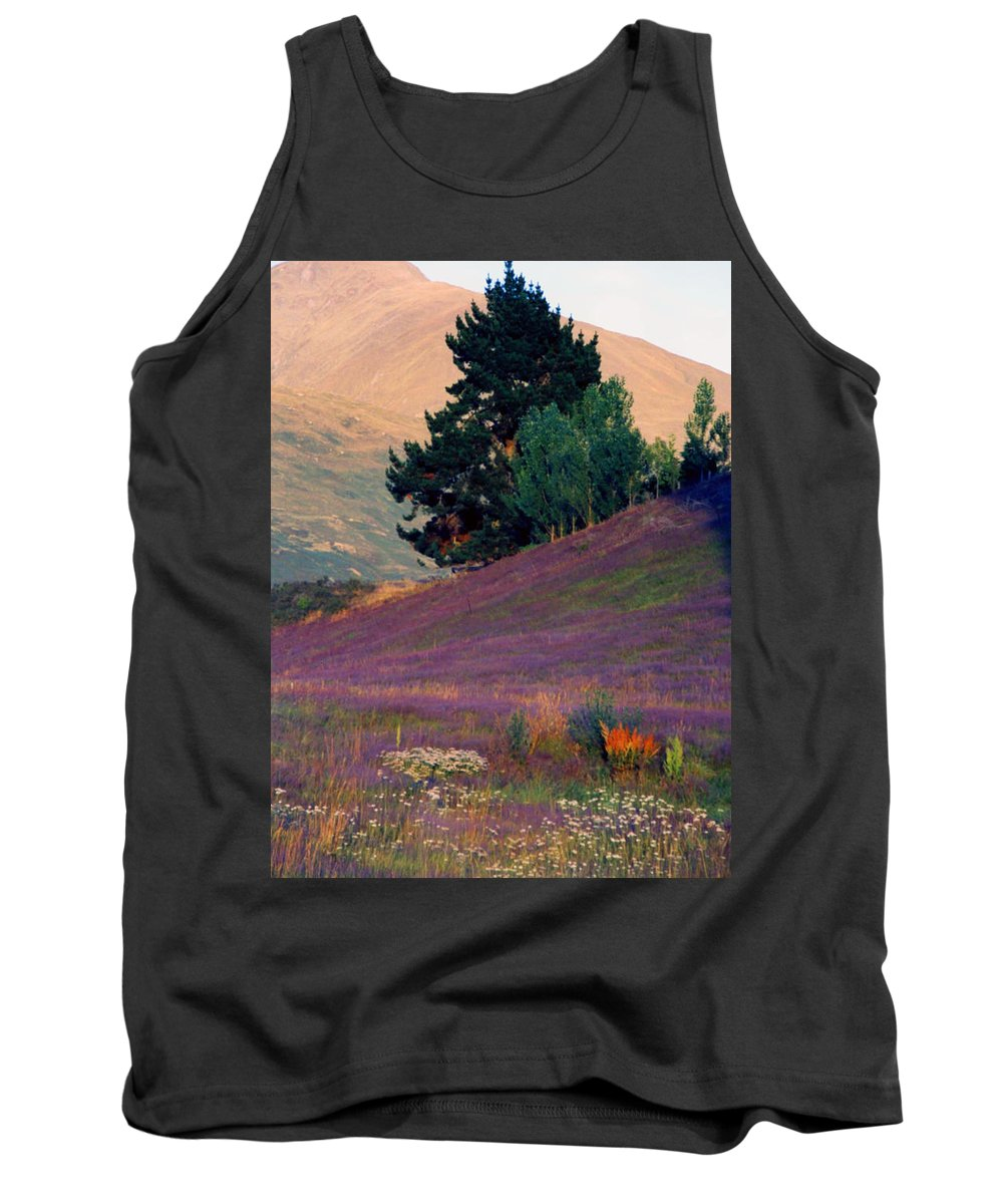 New Zealand Tank Top featuring the photograph Wanaka Heather by Kevin Smith