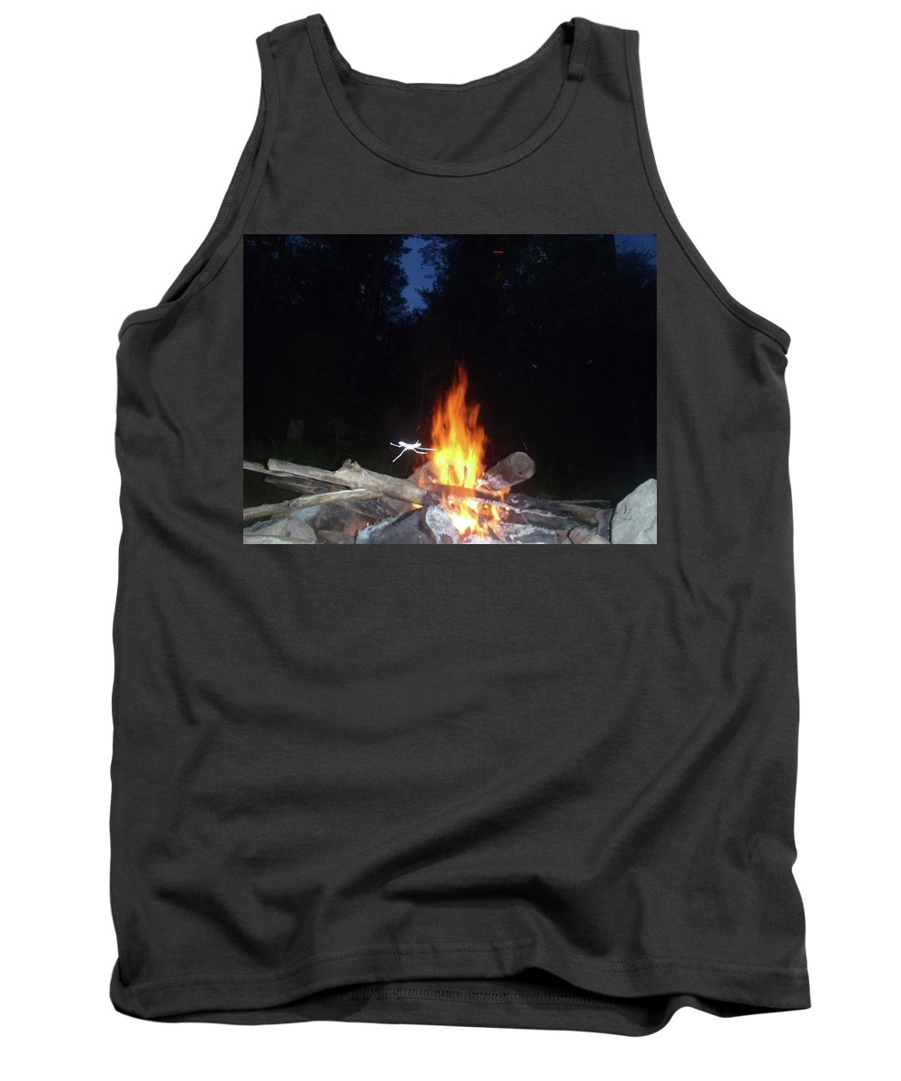 Tank Top featuring the photograph Warming Up By The Fire by Freddy Alsante