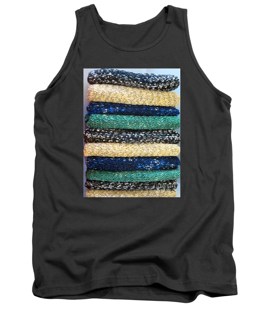 Scarves Tank Top featuring the photograph Warmth In A Pile by Rick Locke