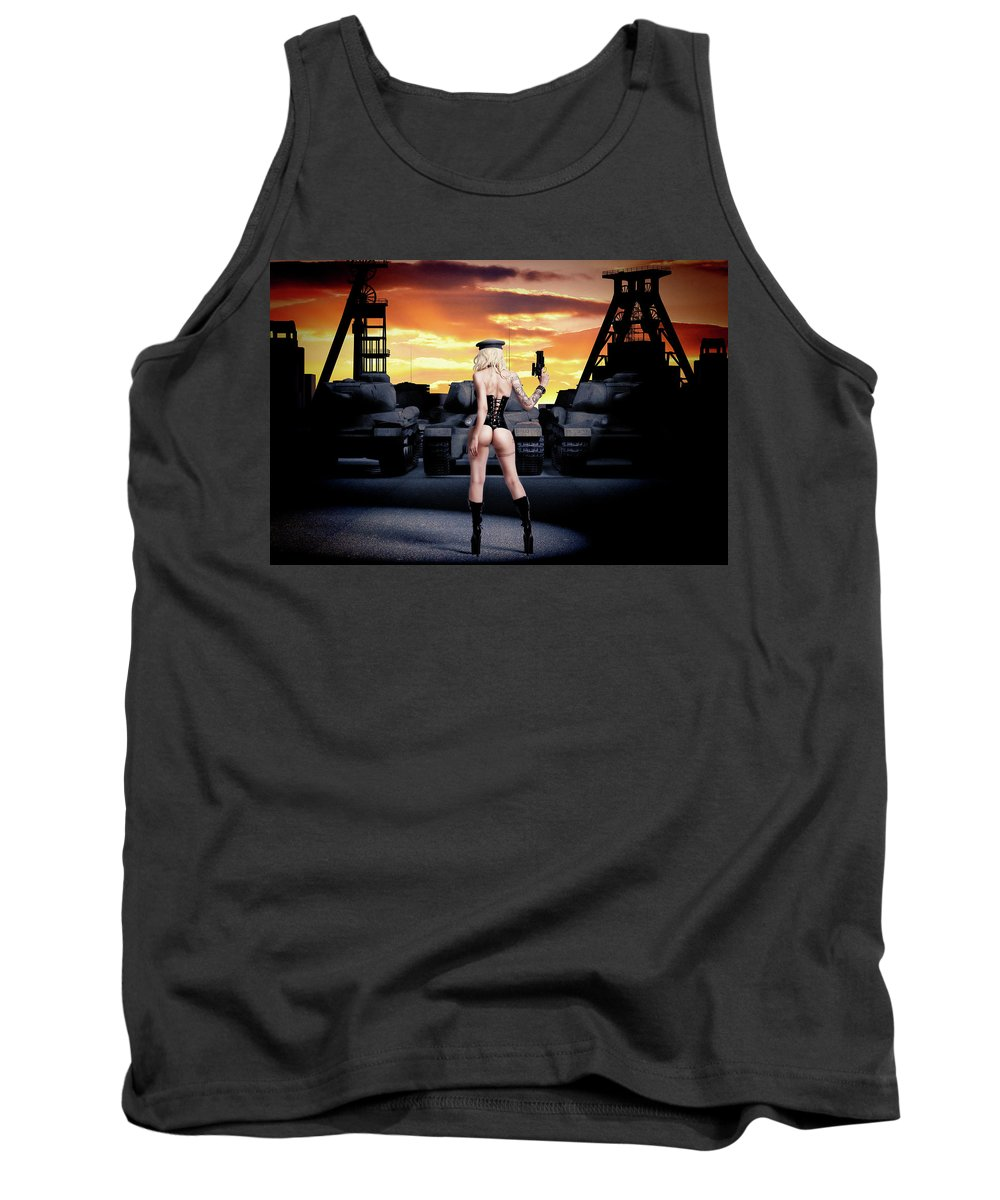 Steampunk Tank Top featuring the photograph Warriors by Guillermo Benitez