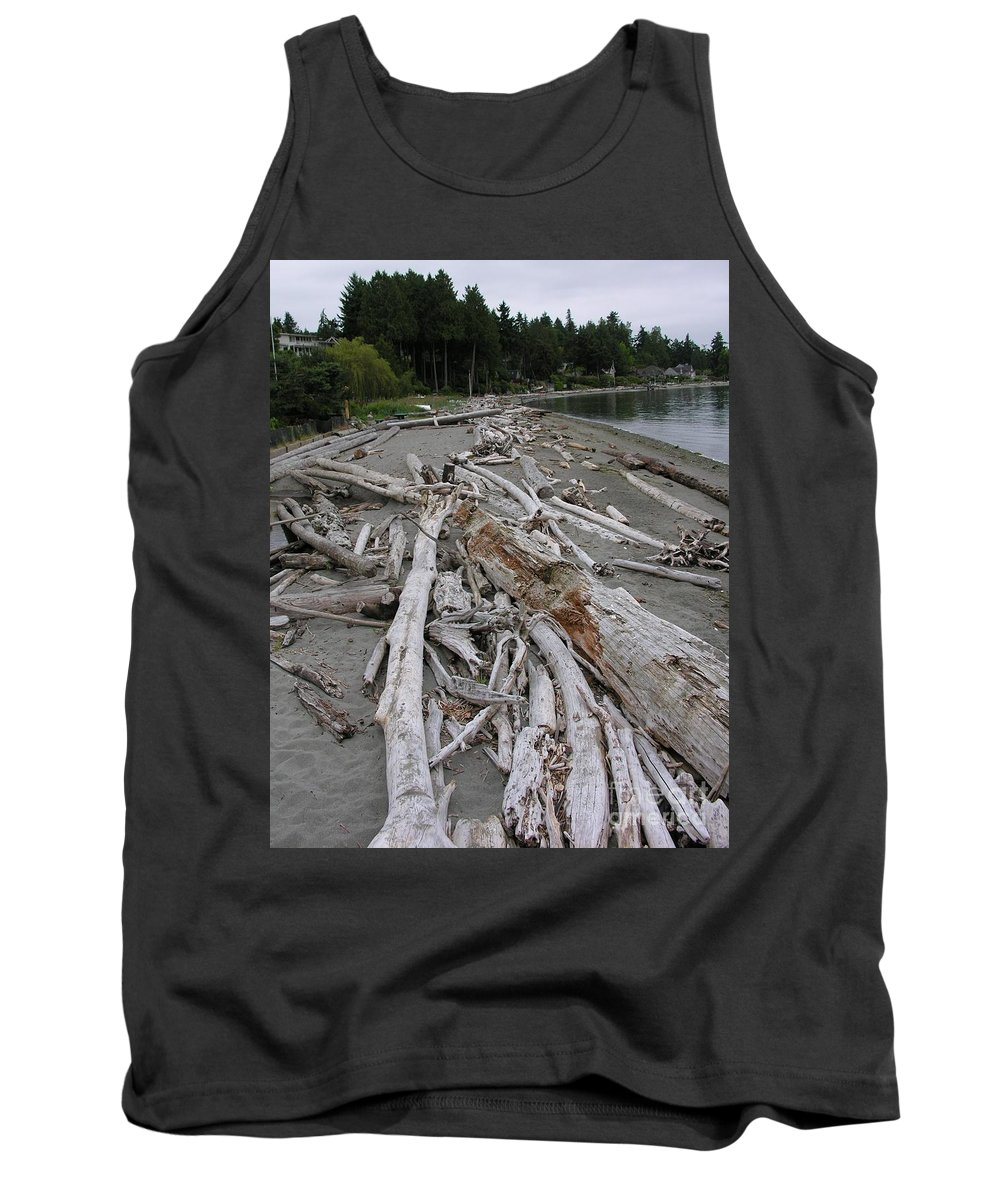 Beach Tank Top featuring the photograph Washed Up by Diane Greco-Lesser