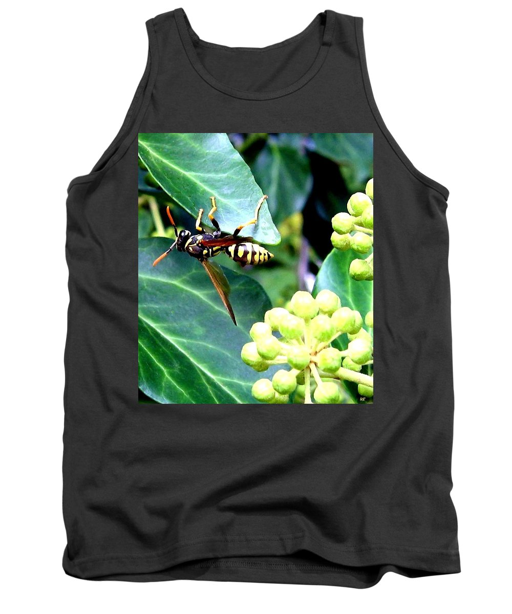Wasp Tank Top featuring the photograph Wasp On The Ivy by Will Borden