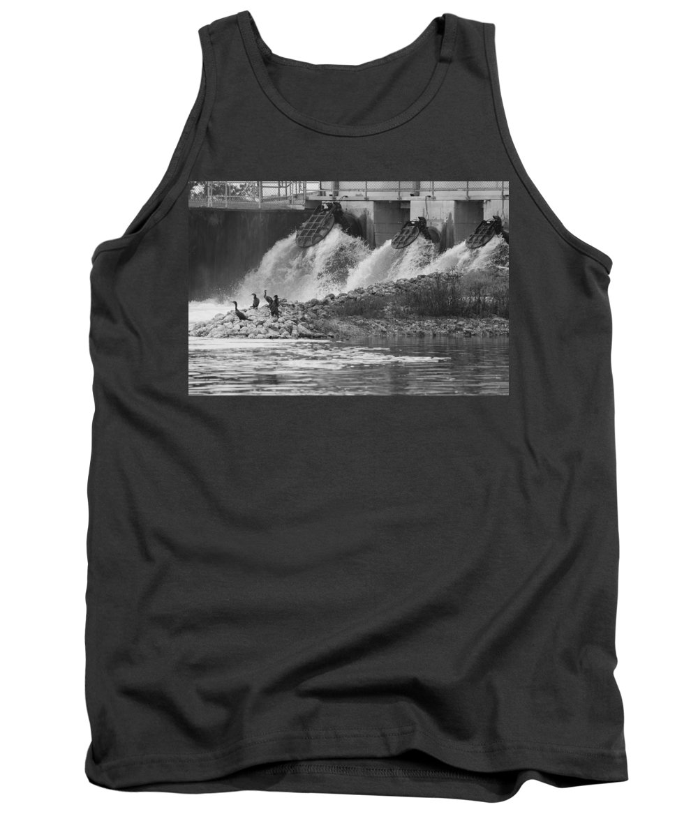 Water Tank Top featuring the photograph Water Birds by Rob Hans