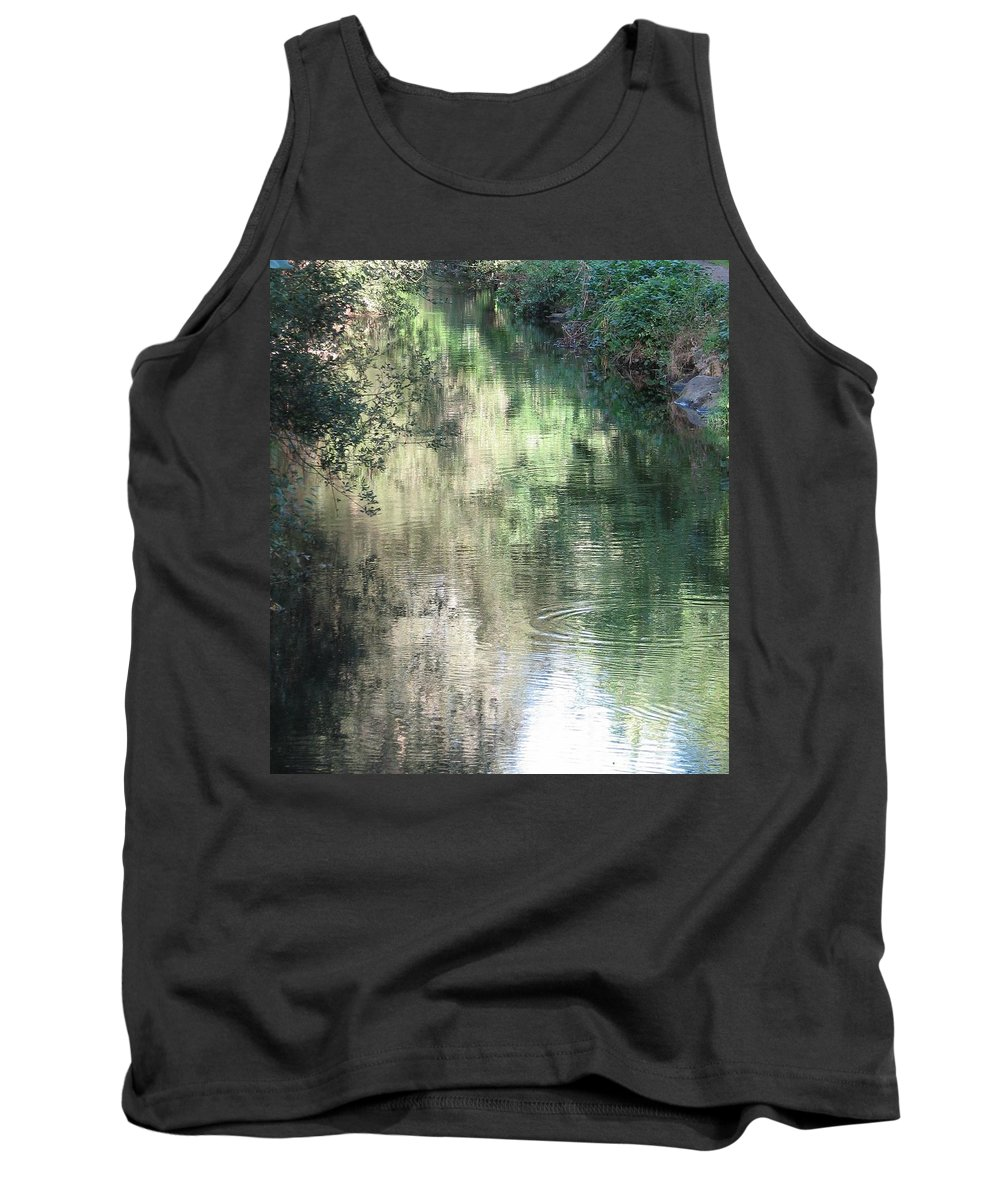 Reflection Tank Top featuring the photograph Water Color by Kelly Mezzapelle