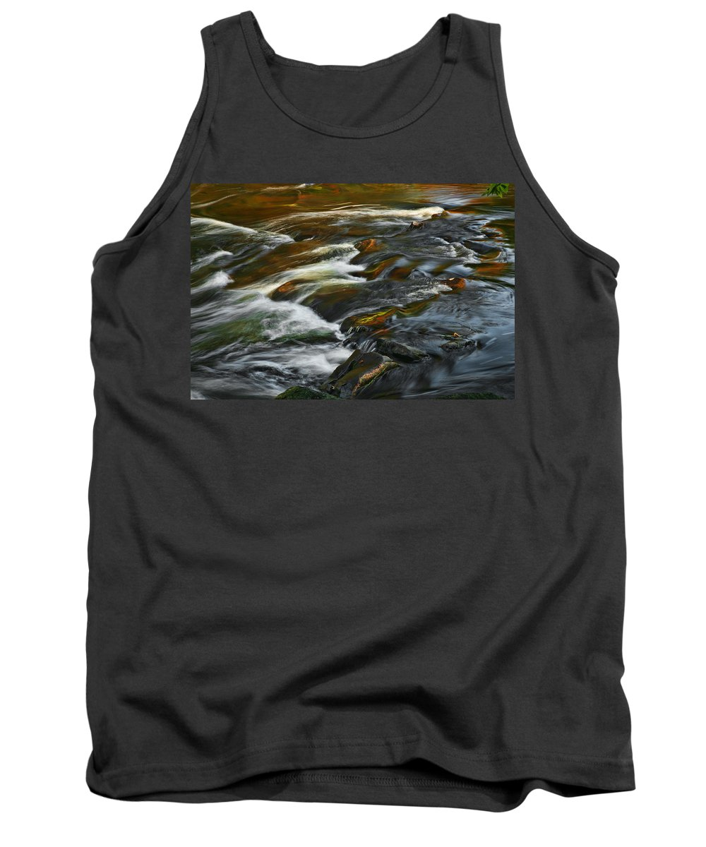 Water Rocks Stream Color Photography Photograph Tank Top featuring the photograph Water Colors by Shari Jardina