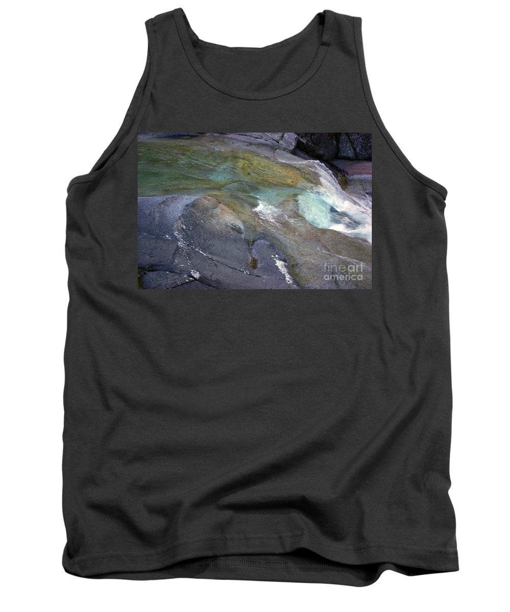 Tropical Tank Top featuring the photograph Water Flow by Kerryn Madsen- Pietsch