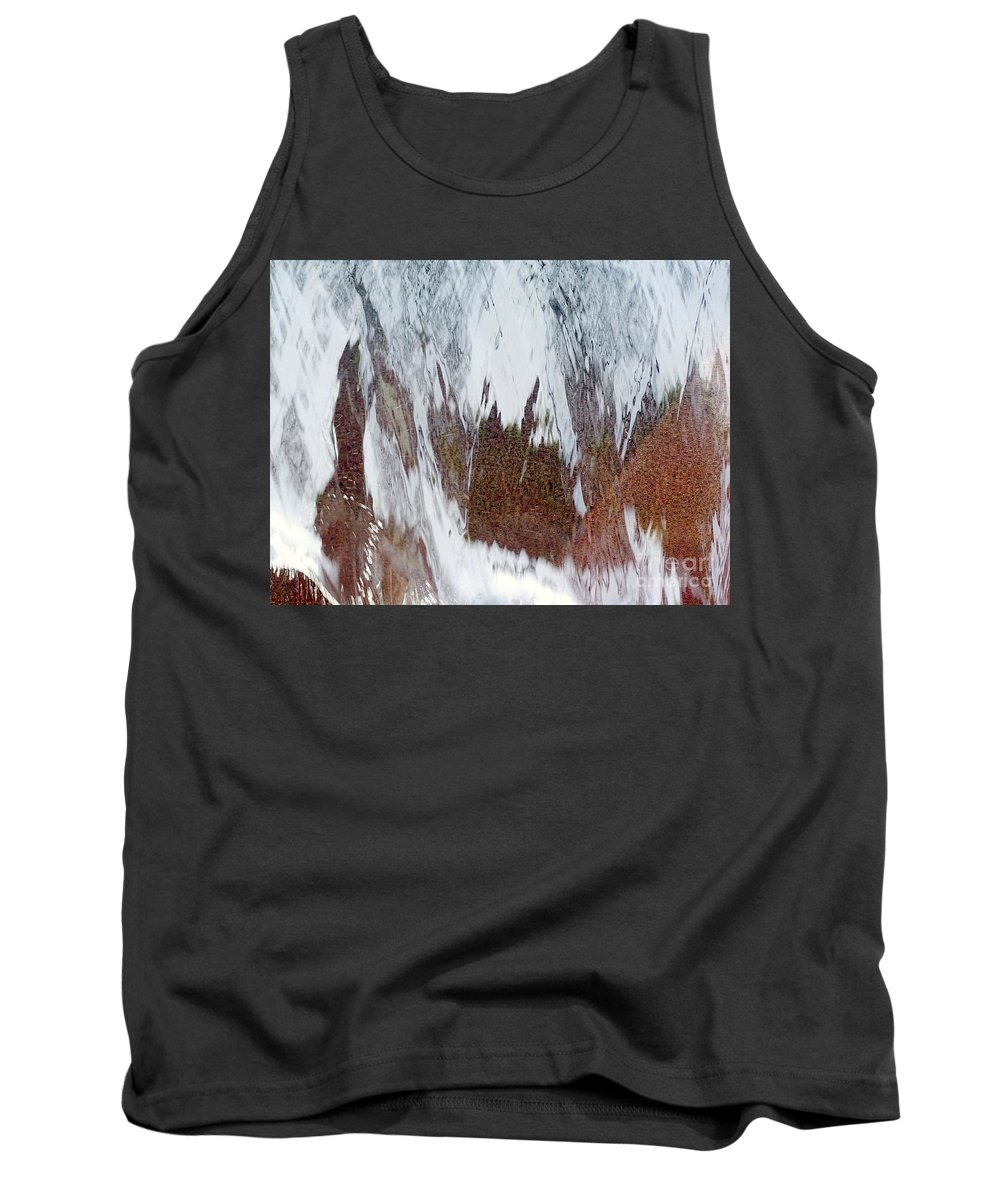 Digital Art Tank Top featuring the photograph Water Fountain Abstract #34 by Ed Weidman